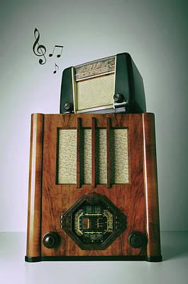Photograph - Vintage Radios by Carlos Caetano