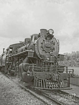 Photograph - Vintage Steam Locomotive by Edward Fielding
