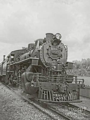 Photograph - Vintage Steam Locomotive by Edward Fielding