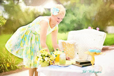 Photograph - Vintage Val Iced Tea Time by Jill Wellington