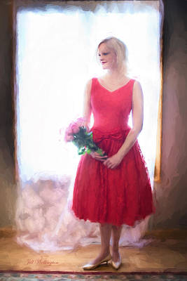 Digital Art - Vintage Valentine Date by Jill Wellington