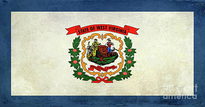 Old West Photograph - Vintage West Virginia Flag by Jon Neidert