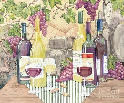 Vintage Wine II Art Print by Paul Brent