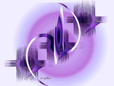 Digital Art - Violet Dreams by Iris Gelbart