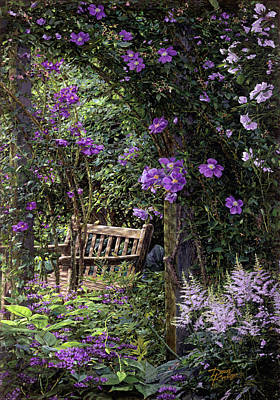 Violet Garden Respite Art Print by Doug Kreuger