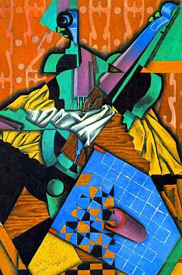 Art History Meets Fashion - Violin and Checkerboard by Juan Gris