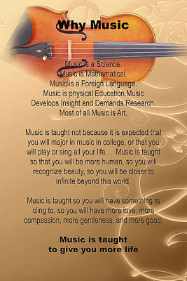 Photograph - Violin Viola Why Music For T Shirts Or Posters 4831.02 by M K  Miller