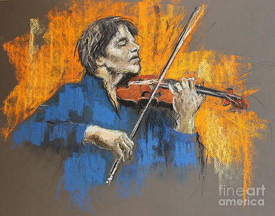 Pastel - Violinist by Debora Cardaci