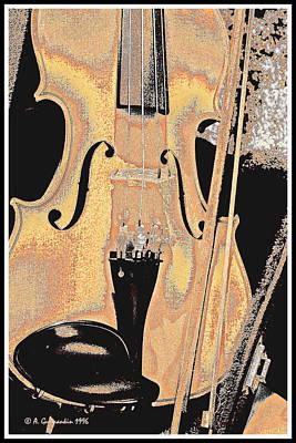 Digital Art - Violinn Bow And Case Digital Art by A Gurmankin