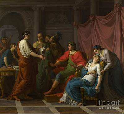 Octavia Painting - Virgil Reading The Aeneid To Augustus And Octavia by Celestial Images