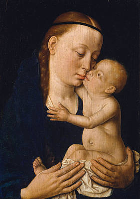 Nude Painting - Virgin And Child by Dieric Bouts