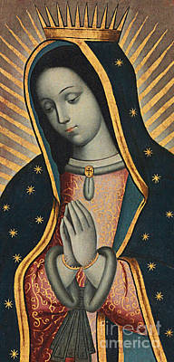 Virgin Guadalupe Painting - Virgin Of Guadalupe by Nicolas Enriquez