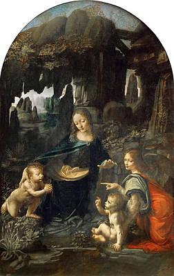 Painting - Virgin Of The Rocks by Leonardo Da Vinci