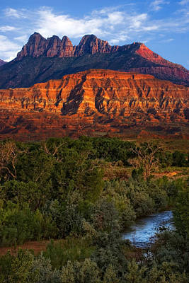 Photograph - Virgin River Near Zion National Park by Utah Images