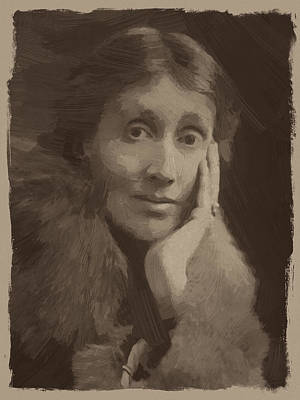 Woolf Digital Art - Virginia Woolf by Afterdarkness
