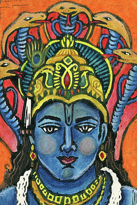 Mixed Media - Vishnu by Jennifer Mazzucco