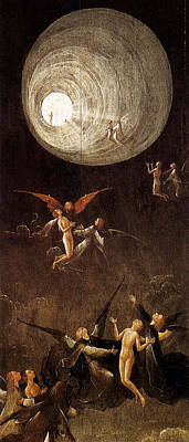 Archangel Art Painting - Visions Of The Hereafter, Ascent Of The Blessed by Hieronymus Bosch
