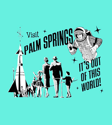 Visit Palm Springs Turquoise Original by Neo