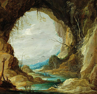 Painting - Vista From A Grotto by David Teniers the Younger