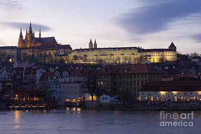 Vitava River, Prague Art Print by Bernd Rohrschneider
