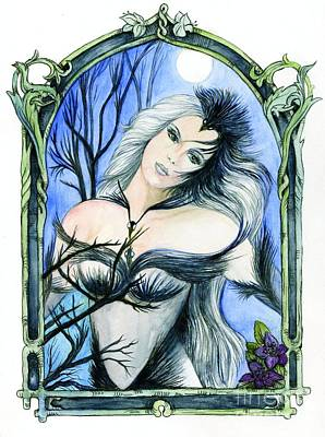 Fitzsimons Painting - Vivian Of The Ravens by Morgan Fitzsimons