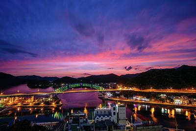 Photograph - Vivid Sky Over The Bridge by Roy Cruz