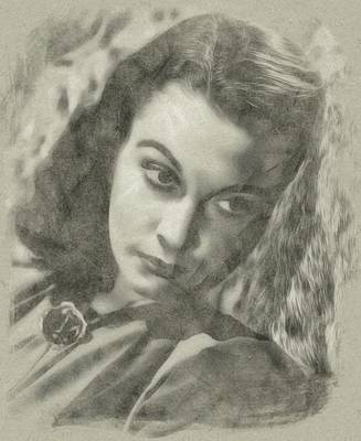 Musicians Drawings Rights Managed Images - Vivien Leigh Royalty-Free Image by John Springfield
