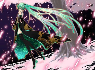 Pattern Digital Art - Vocaloid by Maye Loeser