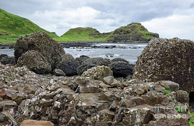 Photograph - Volcanic Rock Formations At The Giants Causeway In Irel by Vizual Studio