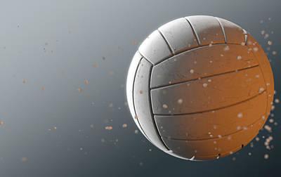 Volleyball Digital Art - Volleyball In Flight by Allan Swart