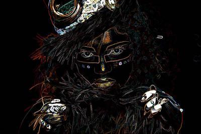 Voodoo Woman Art Print