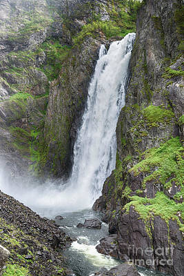Photograph - voringfossen waterfall in Norway by Compuinfoto