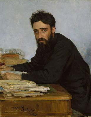 Painting - Vsevolod Mikhailovich Garshin by Ilya Repin