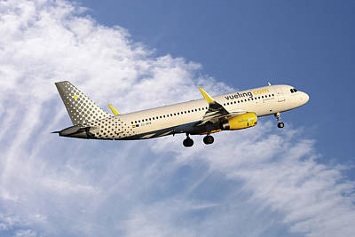 Photograph - Vueling Airbus A320-232 by Nichola Denny