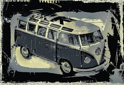 Photograph - Vw Bus 1962... by Manfred Lutzius