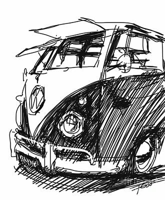 vw bus paintings fine art america Passenger Bus 62 vw bus painting vw bus by peter fogg