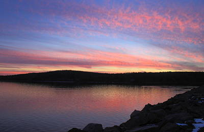 Photograph - Wachusett Reservoir Sunset by John Burk