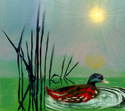 Painting - Wading by Belinda Threeths