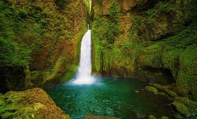 Wahclella Falls Columbia River Gorge Art Print