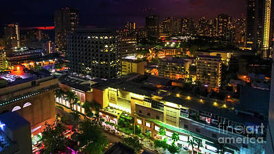 Photograph - Waikiki Colorful Aerial View by Benny Marty