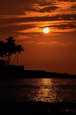 Art Print featuring the photograph Waikoloa Sunset by Pamela Walton