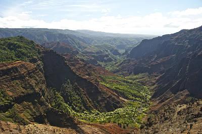 Grand View Of Nature Photograph - Waimea Canyon by Michael Peychich