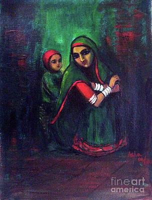 Painting - Waiting  by Asha Sudhaker Shenoy