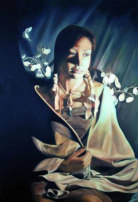 Noble Richardson Painting - Waiting For My Warrior by Noble Richardson