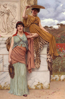 Waiting For The Procession Art Print by John William Godward