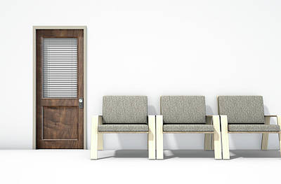 Waiting Room With Chairs Art Print