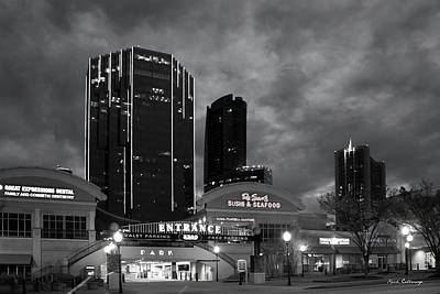 Office Space Photograph - Wake Up Bw Tower Place 100 Buckhead Atlanta Art by Reid Callaway
