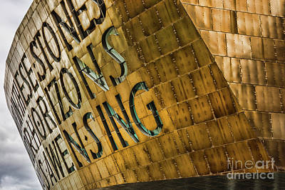 Photograph - Wales Millennium Centre by Steve Purnell