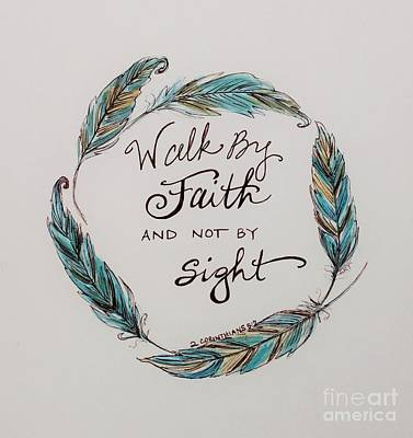 Painting - Walk By Faith by Elizabeth Robinette Tyndall