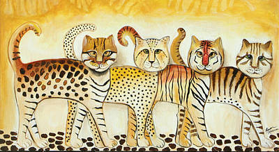 Painting - Walk On The Wild Side by Lauren  Marems